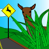 Deer Roadcrossing